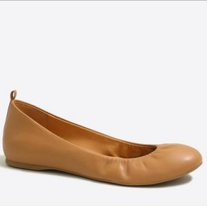 J. Crew Anya Ballet Flats Brown